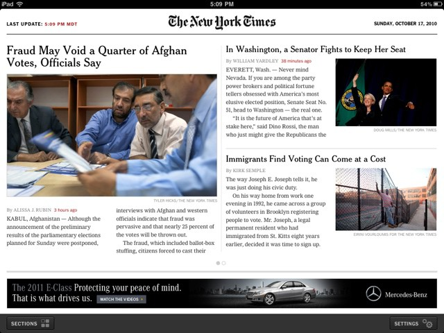 NYTimes 2.0 for iPad